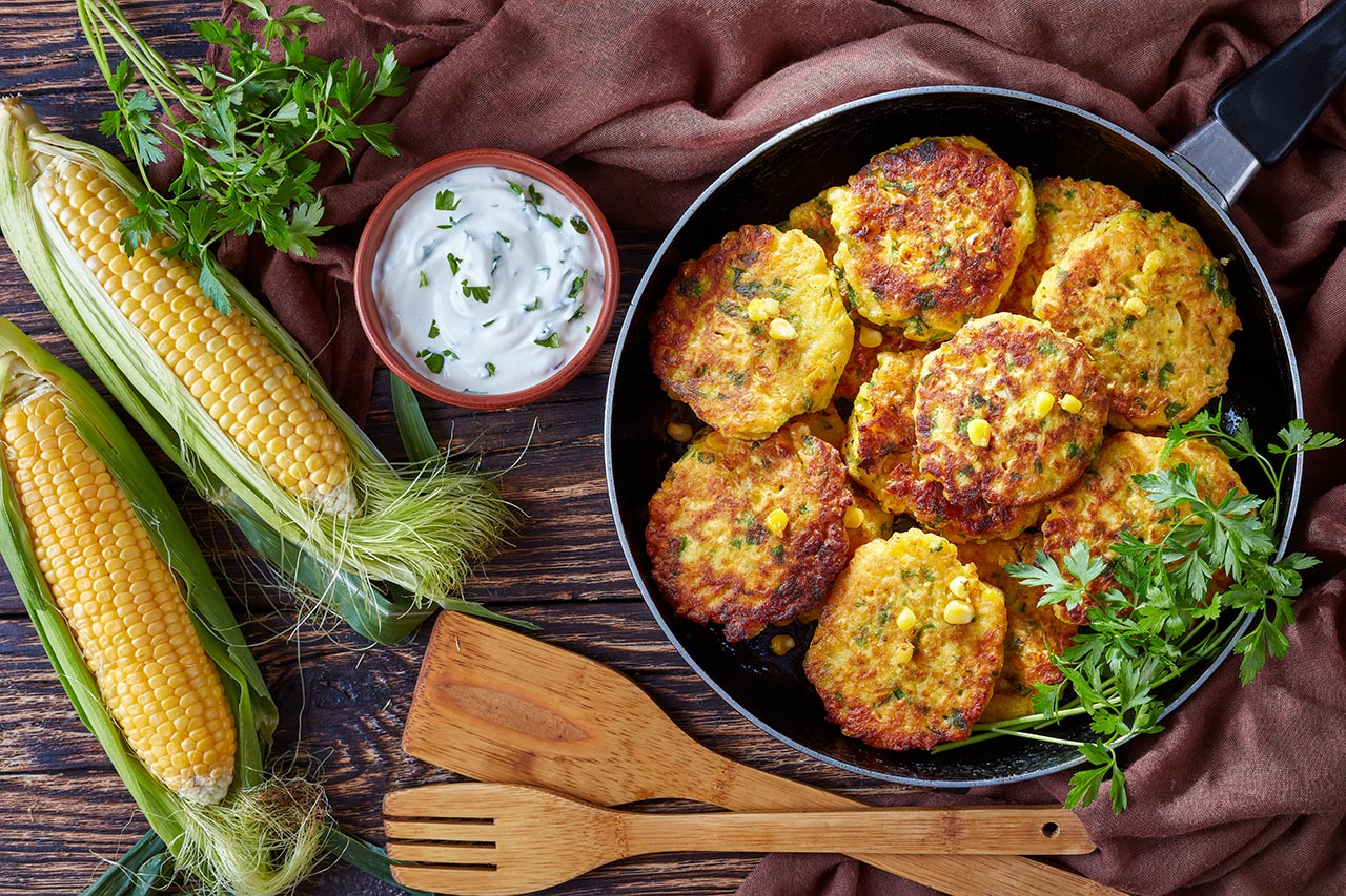 Coriander & Sweet Corn Fritters